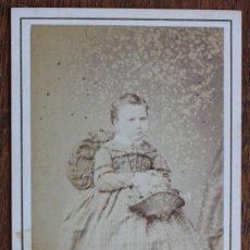 Fotografía antigua: CARTES DE VISITE.- NIÑA- FOTOG. FRANCO. HISPANO. AMERICANO. BARCELONA. Lote 182385642