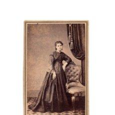 Fotografía antigua: CARTES DE VISITE. ESTUDIO FOTOGRÁFICO. B. DARDÉ. BARCELONA.. Lote 182483356