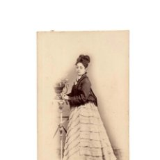 Fotografía antigua: CARTES DE VISITE. ESTUDIO FOTOGRÁFICO. ANTONIO RODAMILLANS. BARCELONA.. Lote 182517588