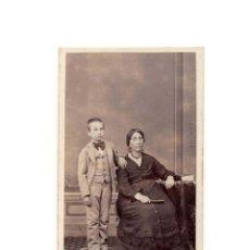 Fotografía antigua: CARTES DE VISITE. ESTUDIO FOTOGRÁFICO. J. MON. MADRID. Lote 182636378