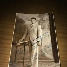 Fotografía antigua: ANTIGUA FOTOGRAFÍA CABALLERO POSANDO FOTO RECHE MADRID. Lote 182745326
