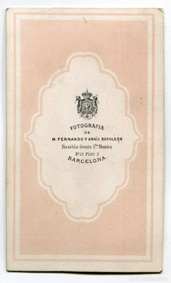 Fotografía antigua: NAPÔLEON. F. Napoleon y Anaïs Napoleon. Señora. Barcelona. c. 1865 - Foto 2 - 182789772
