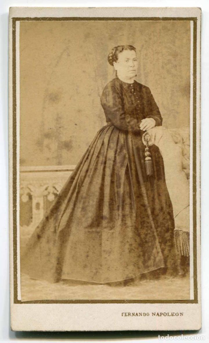 NAPÔLEON. F. NAPOLEON Y ANAÏS NAPOLEON. SEÑORA. BARCELONA. C. 1865 (Fotografía Antigua - Cartes de Visite)