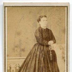 Fotografía antigua: NAPÔLEON. F. NAPOLEON Y ANAÏS NAPOLEON. SEÑORA. BARCELONA. C. 1865. Lote 182789772