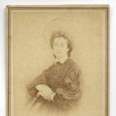 Fotografía antigua: SEÑORA. BARCELONA. F: HOSTENC. 1865. Lote 182789958