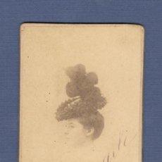 Fotografía antigua: FOTOGRAFIA RETRATO DAMA. FOTOGRAFO E. BEAUCHY (SEVILLA) - SIGLO XIX. Lote 183009598