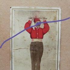 Fotografía antigua: ANTIGUA FOTOGRAFÍA COLOREADA.CARTE O CARTA DE VISITA.PAYES CATALÁN.FOTÓGRAFO FOT. ITALIANA.BARCELONA. Lote 183280863