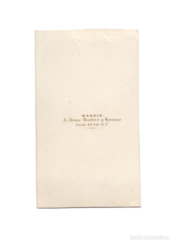 Fotografía antigua: CARTES DE VISITE. ESTUDIO FOTOGRÁFICO. A. ALONSO MARTÍNEZ Y HERMANO. MADRID - Foto 2 - 183514750