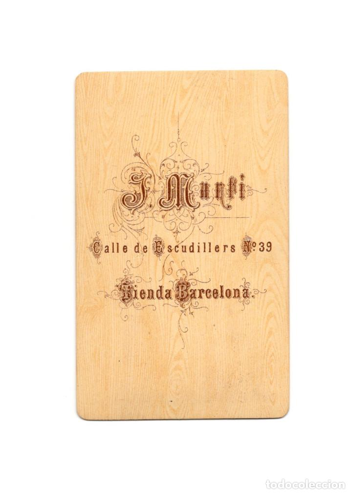 Fotografía antigua: CARTES DE VISITE. ESTUDIO FOTOGRÁFICO. F. MANFI. BARCELONA - Foto 2 - 183518277