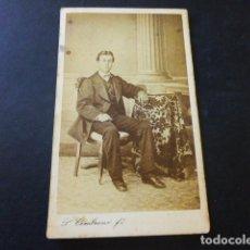 Fotografía antigua: ANTEQUERA MALAGA BALTASAR BOCANEGRA RETRATO POR P. CEMBRANO FOTOGRAFO CARTE DE VISITE. Lote 183580187