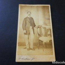 Fotografía antigua: ANTEQUERA MALAGA RETRATO DE JOSE TRUJILLO PLACIDO CEMBRANO FOTOGRAFO CARTE DE VISITE HACIA 1865. Lote 183581008