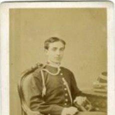 Fotografía antigua: ALFONSO XII REY DE ESPAÑA. 1874. CARTE DE VISITE TAMAÑO 6,4X10,6 CM. FOTÓGRAFO LE JEUNE-PARÍS. Lote 252982980