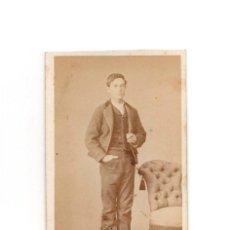 Fotografía antigua: CARTES DE VISITE. ESTUDIO FOTOGRÁFICO. F. MON. MADRID.. Lote 183657186