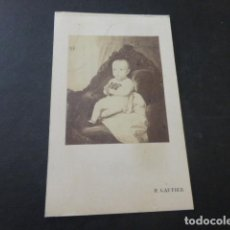 Fotografía antigua: RETRATO DE NIÑO CARTE DE VISITE H. GAUTIER FOTOGRAFO MADRID HACIA 1865. Lote 183700115