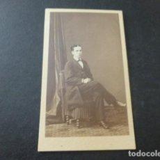 Fotografía antigua: RETRATO DE HOMBRE CARTE DE VISITE MADRID H. GAUTIER FOTOGRAFO HACIA 1865. Lote 183703580
