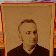 Fotografía antigua: FOTO VALLADOLID, FOTÓGRAFO RARO,CABINET, ORIGINAL, VED REVERSO. Lote 184470912