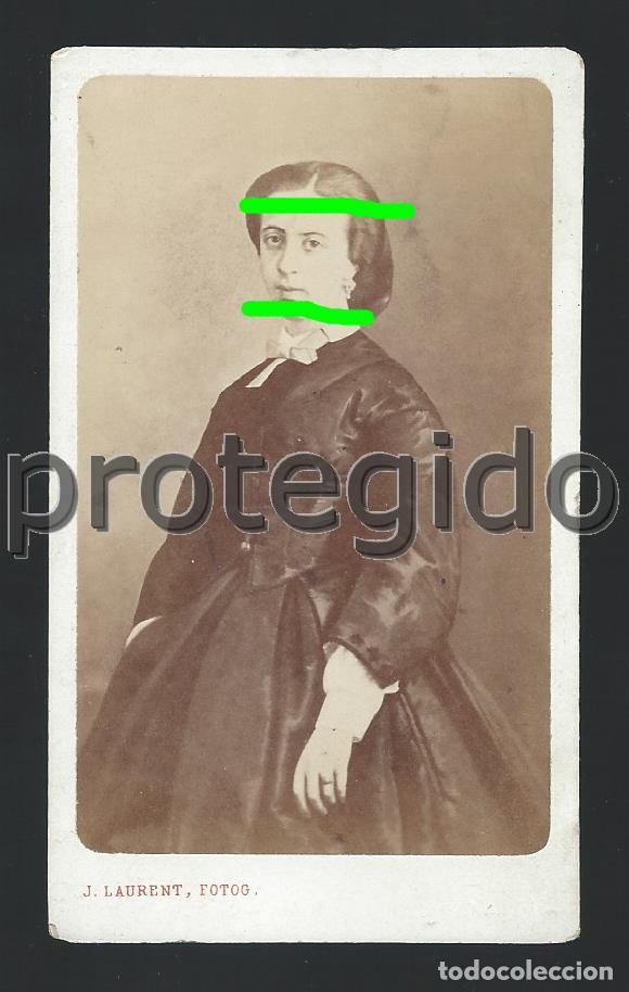 DÑA. CINTA SICHAR. ZARAGOZA. SIGLO XIX. FOTÓGRAFO J.LAURENT. MADRID. BDLL (Fotografía Antigua - Cartes de Visite)