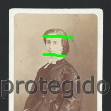 Fotografía antigua: DÑA. CINTA SICHAR. ZARAGOZA. SIGLO XIX. FOTÓGRAFO J.LAURENT. MADRID. BDLL. Lote 184484645