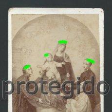 Fotografía antigua: CDV. ESTAMPA RELIGIOSA DE LA VIRGEN. ZARAGOZA. SIGLO XIX. IMAGEN POR IDENTIFICAR. BDLL. Lote 184486040