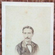 Fotografía antigua: CARTE DE VISITE - SEÑOR POSANDO. Lote 185961683