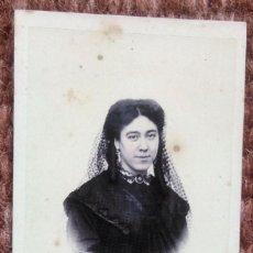 Fotografía antigua: CARTE DE VISITE - SEÑORITA POSANDO. Lote 185961842