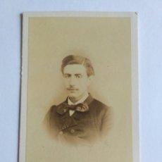Fotografía antigua: FOTOGRAFÍA, CARTA DE VISITA. J. GONZÁLEZ Y TEIJEIRO, LA CORUÑA S. XIX. GALICIA.. Lote 186122517