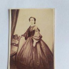Fotografia antica: CARTA DE VISITA, FOTOGRAFÍA DE CARLOS GARCÍA. SANTIAGO DE COMPOSTELA S. XIX. GALICIA.. Lote 186125331