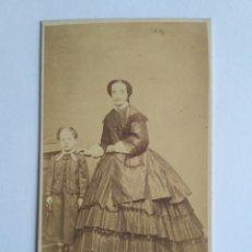 Fotografía antigua: FOTOGRAFÍA, CARTA DE VISITA. J. PALMEIRO. SANTIAGO DE COMPOSTELA S. XIX. GALICIA.. Lote 186126117