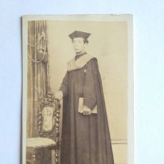Fotografía antigua: FOTOGRAFÍA DE CARLOS GARCÍA, CARTA DE VISITA. SANTIAGO DE COMPOSTELA S. XIX. GALICIA.. Lote 186127483