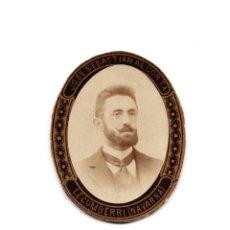Fotografía antigua: FOTOGRAFÍA ALBÚMINA OVALO RETRATO. JOSÉ SEBASTIAN ALCORTA. LECUMBERRI.(NAVARRA).. Lote 186336266