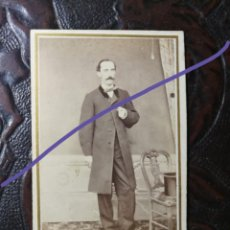 Fotografía antigua: CARTE O CARTA DE VISITA. CABALLERO. FOTÓGRAFO GRANDIN. BARCELONA. FOTOGRAFÍA ANTIGUA. CDV. Lote 187208331