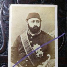 Fotografía antigua: CARTA O CARTE DE VISITA. ABDÜLAZIZ I, SULTÁN IMPERIO OTOMANO. FOTOGRAFÍA ANTIGUA. CDV. Lote 187213803