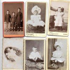 Fotografía antigua: LOTE 14 FOTOGRAFÍAS DE NIÑOS FINALES SIGLO XIX Y PRINCIPIOS XX - FOTÓGRAFOS FRANCESES. Lote 187372637