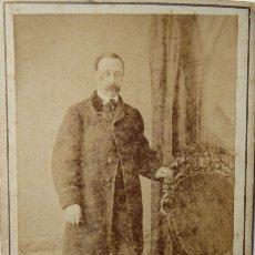 Fotografía antigua: F-4540. CARTE DE VISITE. CABALLERO BARCELONÉS. CIRCA 1870. FERNANDO NAPOLEÓN FOTÓGRAFO.. Lote 187521885
