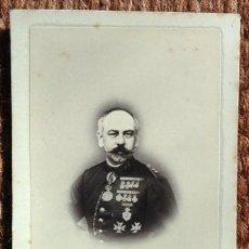 Fotografía antigua: CARTA DE VISITA - MILITAR - FOTO: ANTONIO LLOMBART - MAHON. Lote 189995463