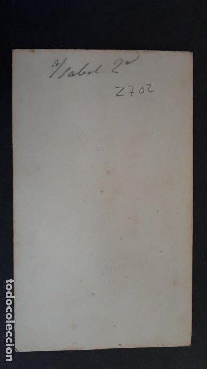Fotografía antigua: FOTOGRAFIA TARJETA CARTA DE VISITA FOTO REINA ISABEL II 2ª ,TV2702 - Foto 2 - 190148731