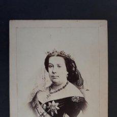 Fotografía antigua: FOTOGRAFIA TARJETA CARTA DE VISITA FOTO REINA ISABEL II 2ª ,TV2702. Lote 190148731