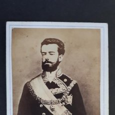 Fotografía antigua: FOTOGRAFIA TARJETA CARTA DE VISITA FOTO AMADEO DE SABOYA ,TV2705. Lote 190149963
