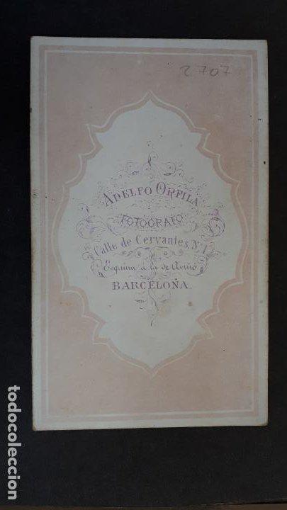 Fotografía antigua: FOTOGRAFIA TARJETA CARTA DE VISITA FOTO LEOPOLDO DE HOHENZOLLERN ADELFO ORFILA BARCELONA ,TV2707 - Foto 2 - 190150150