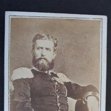 Fotografía antigua: FOTOGRAFIA TARJETA CARTA DE VISITA FOTO LEOPOLDO DE HOHENZOLLERN ADELFO ORFILA BARCELONA ,TV2707. Lote 190150150