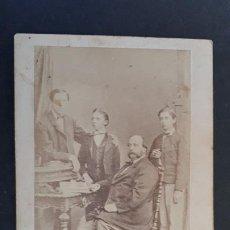 Fotografía antigua: FOTOGRAFIA TARJETA CARTA DE VISITA FOTO HIJOS DE SON JUAN DE BORBON Y SU PADRE ,TV2709. Lote 190150456