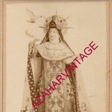 Fotografía antigua: ESPECTACULAR CDV SANTA TERESA DE JESÚS EN CONVENTO DE MM.CARMELITAS DESCALZAS DE ALBA DE TORMES,. Lote 190200201