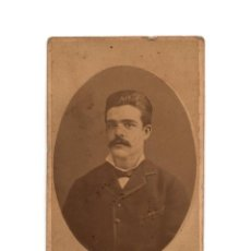 Fotografía antigua: CARTES DE VISITE. ESTUDIO FOTOGRÁFICO. GENISCANS. VALENCIA. CON DEDICATORIA . Lote 190279250