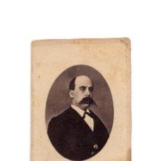Fotografía antigua: CARTE VISITE. EMILIO CASTELAR.- POLÍTICO 1º REPÚBLICA, HISTORIADOR, PERIODISTA, ESCRITOR.. Lote 190280195