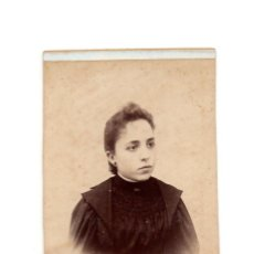 Fotografía antigua: CARTE DE VISITE. ESTUDIO FOTOGRÁFICO. ROGLIO LOPEZ. BARCELONA.. Lote 190282848