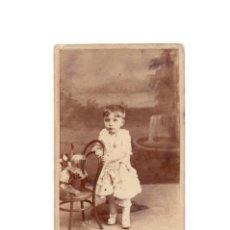 Fotografía antigua: CARTE DE VISITE. ESTUDIO FOTOGRÁFICO. F.GUTIERREZ. MADRID.. Lote 190362995