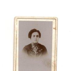 Fotografía antigua: CARTE DE VISITE. ESTUDIO FOTOGRÁFICO. SANCHEZ HERMANOS.. Lote 190363972