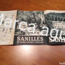 Fotografía antigua: FOLLETO TURÍSTICO SANILLÉS ,AÑOS 50 , PIRINEO CATALÁN TAMAÑO 16 CM X 35 CM. CERDAÑA. Lote 190479650
