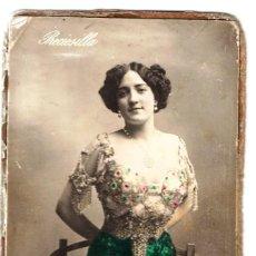 Fotografía antigua: FOTO COLOREADA DE ARTISTA ESPAÑOLA. Lote 190731433