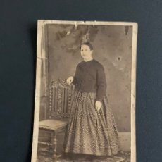 Fotografía antigua: RETRATO DE SEÑORA. ( FOTÓGRAFO HORTET) ZARAGOZA 1864-1888. 11X6 CM. Lote 191986322